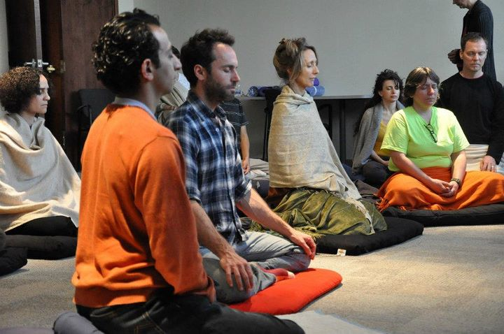 Jeff meditating with Shinzen