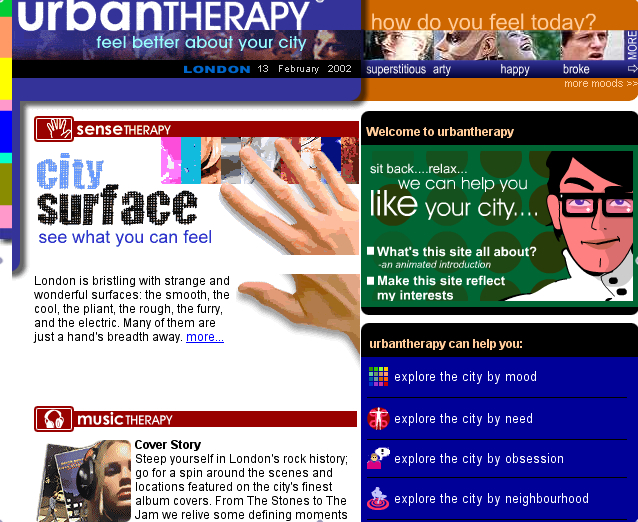 UrbanTHERAPY Home screen