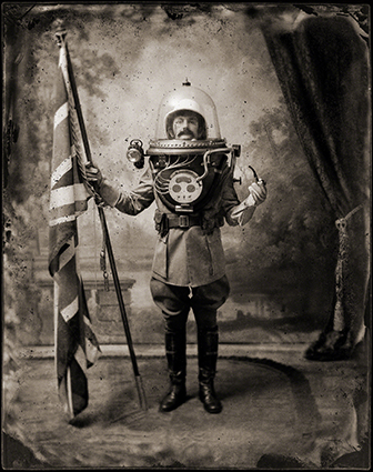 Funny image of an early explorer